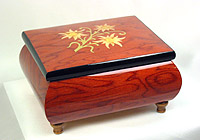 Music Box red, Inlay: Edelweiss, 4.7inch