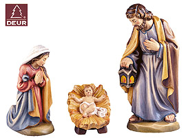 Farm Nativity Holy Family 3pcs 3.54in color