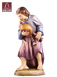Farm Nativity Shepherd Boy with Flute 3.54inch color