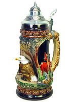 King Beerstein Eagle Stein with 3D Eagle Figurine, 1/2L 10inch