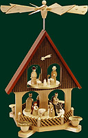 RG Pyramid-House 1-tier Nativity, 14 inches