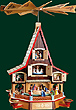 Advent House, Nativity, el. lights, 24 inches