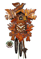 1-Day Cuckoo Clock 3 Birds 9.8 inches