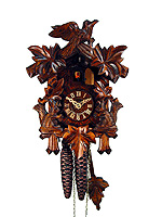 1-Day Cuckoo Clock Squirrel 5-Leaves 8 in
