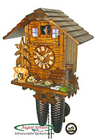 8-Day Cuckoo Clock Chalet with Deer, 11 inches