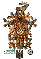 8-Day Carving Cuckoo Clock The Large Hunter Clock, 35inch