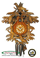 1-Day Carving Cuckoo Clock Fir Trees & Birds, 11.4 inch