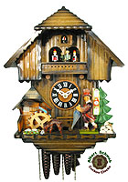 1-Day Music Dancer Cuckoo Clock Peddler, 14.3 inch