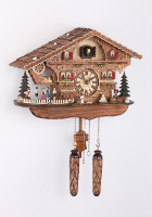 Quartz Cuckoo Clock turning Bayrische dancers 12,8 inch